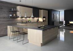 Kjøkkenmodell: Nordisk Updated Kitchen, New Kitchen, Interior Design Living Room, Living Room Designs, Modern Kitchen Design, Scandinavian Design, House Plans, New Homes, House Design