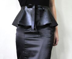 DIY no sew pepelum belt. I am thinking a black leather like one for my new thrifted houndstooth Pendelton suit