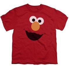 4cfe338c Sesame Street Elmo Big Face Youth Tshirt Proyectos De Costura Para Niños,  Regalos Navideños,