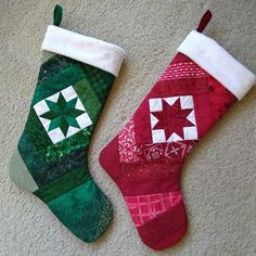 Canuck Quilter: Twice-turned Christmas stocking tutorial