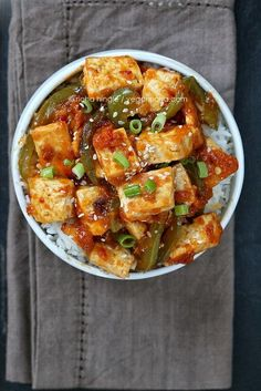 Spicy Orange Tofu and Peppers and a Giveaway. Vegan Glutenfree Recipe | Vegan Richa