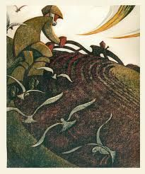 Alongside work by David Gentleman and Gerd Winner our 'Images of Industry' exhibition will also showcase a breathtaking Sybil Andrews print. Sybil Andrews, Canadian Artists, Wood Engraving, Linocut Prints, Gravure, Woodblock Print, Artwork Prints, Illustrations Posters, Printmaking