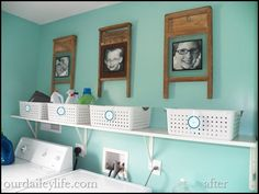 Washboard picture frame