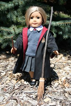 Arts and Crafts for your American Girl Doll: Harry Potter broom for American Girl doll