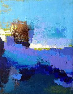 Ocean Blue Series #1- Acrylic on Canvas-- by Lotus Lien