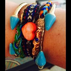 Blue Enamel Spike Bracelet 5 Available Beautiful Bracelets by T&J Designs. PRICE FIRM UNLESS BUNDLED. T&J Designs Jewelry Bracelets