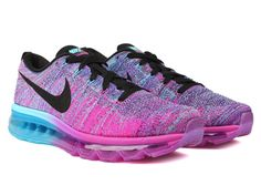 competitive price e8e28 9419a WMNS Nike Flyknit Air Max Fuchsia Flash Black-Clearwater-Chlorine Blue Nike  Flyknit