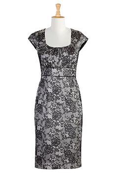 Moonlit lace sheath dress