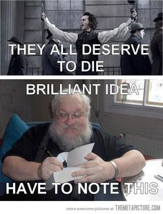 Part of the reason why I still can't get any further in to ASoIaF.