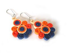 Sale Quilling Earrings paper quilling Earrings by PaperDreamland
