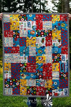 Dr Suess Baby Quilt. I absolutely love dr Seuss! I wish I was a quilter