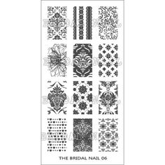 THE BRIDAL NAIL - Nail Art Stamping Image Plate BN06 *** Continue to the product at the image link. (This is an affiliate link) #FootHandNailCare