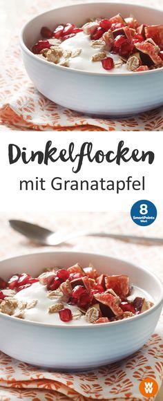 Dinkelflocken mit Granatapfel | 8 SmartPoints/ Portion, Weight Watchers, schnelles Frühstück