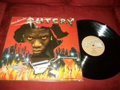 Vintage Vinyl Reggae LP Album Mutabaruka - Outcry with Lyric Sheet 1984