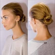 hair behind head in roll - Google Search