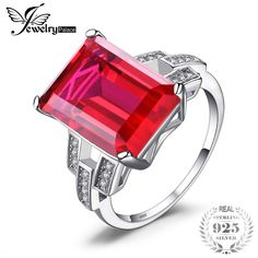 Jewelrypalace Luxury Emerald Cut 9.2ct Created Red Ruby Cocktail Ring 925 Sterling Silver  2018 Brand New Fashion Jewelry. Yesterday's price: US $23.62 (19.53 EUR). Today's price: US $12.99 (10.70 EUR). Discount: 45%.