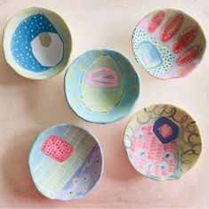 Brighten up your space with these fun trinket bowls by Sharon Erichsen Ceramics, a ceramic artist based in Somerset West. Somerset West, Ceramic Artists, Furniture Decor, Bowls, Decorative Plates, Ceramics, Space, Tableware, Fun