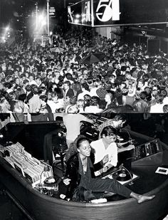 Studio 54, NY (Diana Ross in the DJ booth)