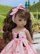 """кошки и кружевной-платье и туфли для Dianna EFFNER LITTLE DARLING куклы 13 """""""