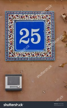 House Number With Intercom Стоковые фотографии 69934486 : Shutterstock