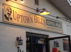 Uptown Bill's at dusk Dusk, Broadway Shows, Coffee, City, Kaffee, Cup Of Coffee, Cities