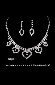 Wedding   Party Occasion Set  Crystals Earrings Necklaces Rings