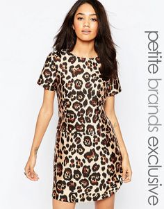 Buy it now. Glamorous Petite Animal Print Shift Dress - Multi. Dress by Glamorous Petite, Unlined woven fabric, Round neckline, Zip back, Hook and eye closure, Regular fit - true to size, Hand wash, 100% Polyester, Our model wears a UK 8/EU 36/US 4, Exclusive to ASOS. ABOUT GLAMOROUS PETITE Glamorous pulls together an eclectic mix of vintage influences and brand new trends. Glamorous Petite brings us the same fashion-led pieces as their mainline collection � cool knitwear, day-to-night…