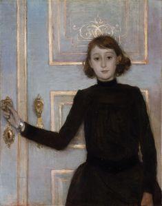 Théo van Rysselberghe (Belgian, 1862-1926), Portrait of Marguerite van Mons, 1886. Oil on canvas, 90 x 70 cm.