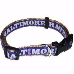 """-""""Baltimore Ravens NFL Dog Collars"""" - BD Luxe Dogs & Supplies"""
