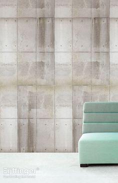 Eijffinger behang Wallpower Rythm - grijs, naturel, wit - 330039. Stoer beton gecombineerd met de zachtheid van pastel.