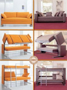 OK, so you had a night out with the boys and now you've been sent to sleep on the sofa! Knock, knock... your best mate's been locked out! He's a good friend but you don't want to cuddle up with him. How's this for a solution? This is just one example of the many space-saving furniture ideas we have in our collection. You can view the full album on our site at http://theownerbuildernetwork.co/ideas-for-your-rooms/furniture-gallery/space-saving-furniture/