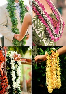 "Icons of ""aloha"", these traditional symbols of Hawaii mean welcome, friendship, respect and love. They are heavenly feats of flower architecture and definite eye candy for a colour lover."