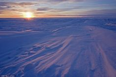 Sunrise by Mark Linfield, BBC:  The first sunrise of the year in the High Arctic archipelago of Svalbard is on February 15 or 16, after being beneath the horizon for several months. via dailymail.co.uk #Svalbard