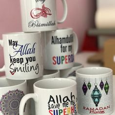 Islamic mugs made for delivery 📦