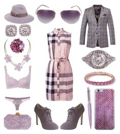 """Miz Mauve"" by creation-gallery ❤ liked on Polyvore featuring Burberry, Barneys New York, Edie Parker, LoveStories, Triumph, August Hat, Ted Baker, Sama Eyewear, Ippolita and Jamie Clawson"