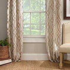 Metallic Avalon Curtain Panel Set 96 In