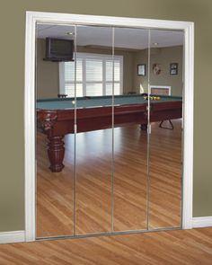 Mirrored Closet Doors: -Make room look larger u0026 reflect light so itu0027s  brighter. -Styles: sliding, swing u0026 bifold. -Framed