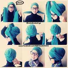 Cute turban style head scarf. Better for cotton or polyester, methinks, and maybe silk if I can muster the patience.