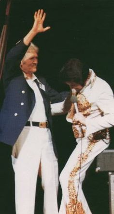 Elvis And Vernon In Indianapolis On June 26,1977. Elvis' Last Peformace.