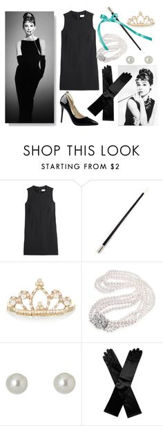"""Halloween Costume ~ Breakfast at Tiffany's"" by meimeidarling ❤ liked on Polyvore featuring RED Valentino, Accessorize, Bling Jewelry, Givenchy, contestentry, fashionset, polyvorecontest, halloweencostume and DIYHalloween"