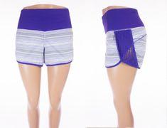 LULULEMON Run Sun Sprinter Short 10 M Elevation Stripe Bruised Berry Yoga #Lululemon #ActivewearShorts