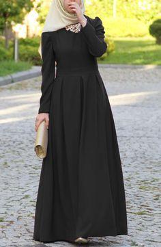 Modesty Fashion, Abaya Fashion, Muslim Fashion, Fashion Dresses, Women's Fashion, Beautiful Hijab, Beautiful Dresses, Modele Hijab, Muslim Dress