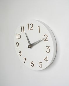modern numbers clock simple white by uncommon on Etsy, $65.00