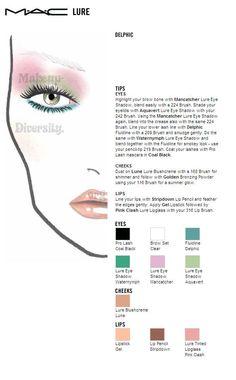 Mac face chart Lure Delphic