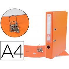 Archivador AZ Documenta A-4 lomo ancho naranja