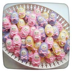 ♥ Tiryaki Hobi ♥: Keçe bebek şekeri / doğumgünü magneti - kundaklı bebek (MELİS)  ---------  felt baby