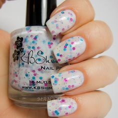 manicurator: KBShimmer Spring 2013 Pastel Glitters Swatch and Review