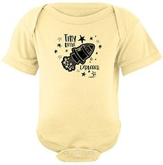 Funny Baby Clothes Little Explorer Outer Space Man Rocket...