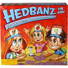 """The Spin Master Games Hedbanz Board Game is the quick question """"what am I"""" game. Have fun trying to figure out what card is in your Headbanz. Language Lessons, Language Activities, Speech And Language, Language Arts, Receptive Language, Sign Language, Guessing Games For Kids, Board Games For Kids, Kids Board"""