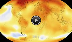 An amazing 14-second NASA animation depicting how the globe has warmed during the period of 1950 to 2013.